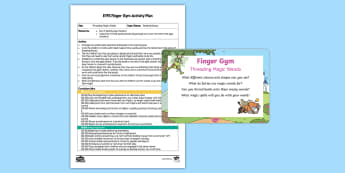 Threading Magic Wands Finger Gym Plan and Prompt Card Pack - fine motor, fairy tales, princesses, princess, finger gym, funky fingers, pincer grip, threading, be
