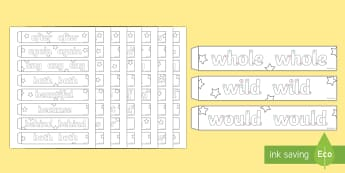 Handwriting Year 2 Common Exception Words Paper Chain Activity - handwriting, year 2, common exception words, spelling, paper chain