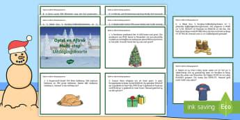 Optel en Aftrek Multi Stap Probleme Kersfees Wiskunde Uitdagingskaarte - Desember, feesvier, Kersboom, Kersvader, kalkoen, geskenke