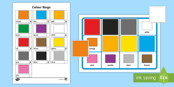 Whole Class Colour Bingo - bsl game, bsl colours, deaf education, British sign language colour game