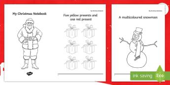 My Christmas Colouring Activity Booklet - santa, worksheet, activity sheet