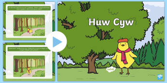 Pŵerbwynt Huw Cyw - Huw Cyw, Ckicken Licken, Heulwen Hwyaden, Ducky Lucky, Cai Cwac Cwac, Gweno Gwydd, Twm Twrci, Iona I