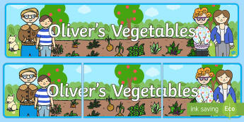 Oliver's Vegetables Display Banner - Oliver's vegetables, banner