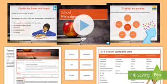 School Subjects and Opinions Foundation Lesson Pack Spanish - education, differentiated, giving, opinions, extend, sentences