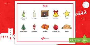 Christmas French Word Mat-French - French, Festivals, Christmas, Celebrations, Noël, France, Key Stage 2, traditions,French,French
