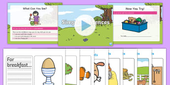 KS1 Simple Sentence Writing Picture Prompts Activity Pack - simple sentences, early writing, writing, snetences, sentence construction, picture prompts, KS1, EY