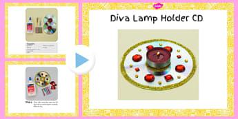 Diva Lamp Holders CD Craft Instructions PowerPoint - diva lamp, holders, cd, craft, instructions, powerpoint