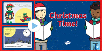 Year 2 Christmas Maths Time PowerPoint - year 2, christmas, maths, mathematics, numeracy, time, powerpoint