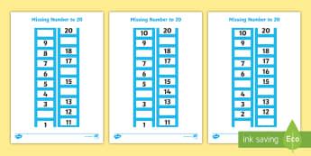 missing numbers on a number line primary resources. Black Bedroom Furniture Sets. Home Design Ideas