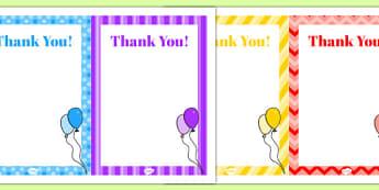 10th Birthday Party Thank You Notes - 10 birthday party, 10th birthday, birthday party, thank you notes