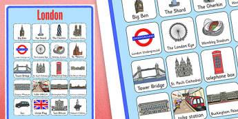 Poster d'affichage : Les monuments de Londres - Anglais LV