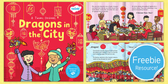 Dragons in the City eBook - originals, fiction, chinese new year, mandarin chinese, zodiac, new year, cNY, town, celebration, ev