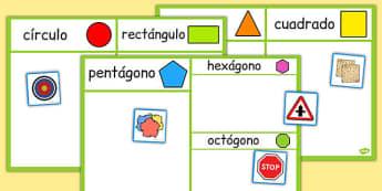 Ficha de clasificar formas geométricas - formas, geometría, cuadrado, círculo, juego