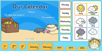 Under the Sea Themed Display Calendar - under the sea, sea themed, display calender, display, calender, sea calender, sea display, sea display calender