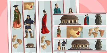The Shang Dynasty Display Borders - shang dynast, history, china