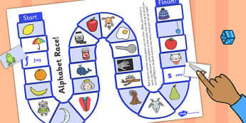 Self-Checking Alphabet Board Game - ESL Alphabet Resources