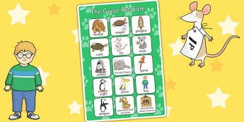 Vocabulary Poster to Support Teaching on The Great Pet Sale - pets, animals, poster