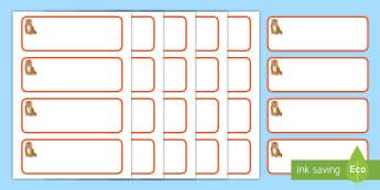 Tiger Cub Themed Editable Drawer-Peg-Name Labels - Resource Labels, Name Labels, Editable Labels, Drawer Labels, Coat Peg Labels, Peg Label,Teaching La