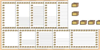 Charity Box Page Borders- Page Borders - Page border, border, writing template, writing aid, writing frame, a4 border, template, templates, landscape