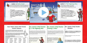 UKS2 Letters to Santa: Spot the Spelling Mistake Resource Pack - UKS2, spag, spelling, spelling correction, Y5 and Y6 statutory spellings, appendix , smart stefan