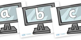 Phoneme Set on Monitors - Phoneme set, phonemes, phoneme, Letters and Sounds, DfES, display, Phase 1, Phase 2, Phase 3, Phase 5, Foundation, Literacy