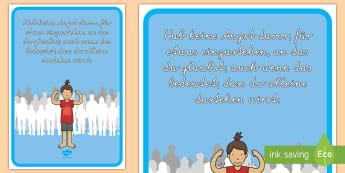 Hab keine Angst für etwas einzustehen Motivierendes Poster für die Klassenraumgestaltung - Motivation, Inspiration, Kommunikation, Deko, Klassenzimmer, ,German