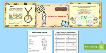 Numerele romane Pachet cu activități
