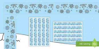 Snowflake Themed Display Borders - Winter Display Lettering & Symbols (Snowflakes) - Winter, Display lettering, display letters, alphab