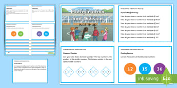 year 5 multiplication and division warm up Challenge Cards - KS2 Maths warm up challenge cards, Y5, Year 5, UKS2, multiplication, division, problem solving, reas