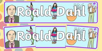 Dahl Display Banner - display banner, dahl, roald dahl, roald dahl display banner, roald dahl banner, dahl banner, display, banner, display header