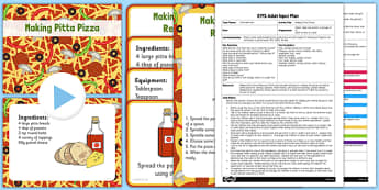 Making Pitta Pizza EYFS Adult Input Plan and Resource Pack - EYFS planning, Early years activities, traditional tales, food