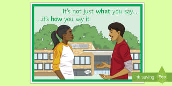 It's Not Just What You Say... A4 Display Poster - What you say, poster, behaviour, classroom management, motivation, attitude