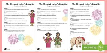 The Firework-Maker's Daughter Differentiated Comprehension Challenge Sheet - The Firework Maker's Daughter  Differentiated Comprehension Challenge Sheet, english, litetacy, lit