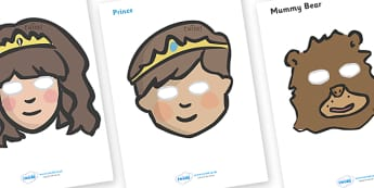 Fairy Tale Character Role Play Masks - role play mask, role play, traditional tale, tale, fairy tale