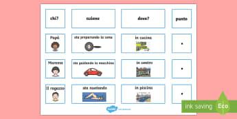 Costruisci la Frase Azioni di Tutti i Giorni Attività - scrivi, le ,frasi, azioni, di, tutti, i giorni, grammatica, italiano, italian