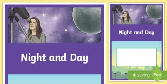 Night and Day Year 3 Earth and Space Sciences Editable Book Cover-Australia - primary connections, Grade 3, Australian Curriculum earth and space science, science journal, scienc