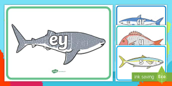 Under the Sea Themed Phase 2 to 5 Phonemes Display Posters - Under the Sea Themed Phase 2 to 5 Phonemes Display Posters - Phoneme set, phonemes, phoneme, Letters