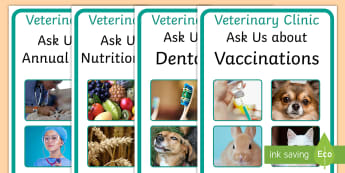 Veterinary Hospital Advice Display Posters - vets, advice, display, pets, posters
