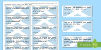 CfE Gaelic Learners Second Level Experiences & Outcomes Stickers - CfE Gaelic Display, Gaelic Learners, assessment, tracking, stickers, First Level, Listening & Talkin