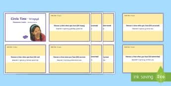 Mindful Me: Circle Time Emotion Cards English/Afrikaans - calm, relax, stress, bullying, anger, happy, boelie, EAL