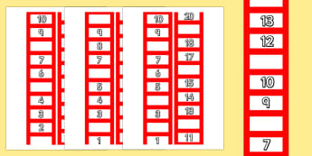 Ladder Missing Number to 20 Worksheet / Activity Sheets - ladder, numbers, maths, Count, numbers to 20, missing number, numeral recognition