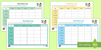 Cfe- First Level- My Fitness Log- Worksheet / Activity Sheets - Cfe, First level, fitness, fitness log, progression, p.e, physical education,worksheets