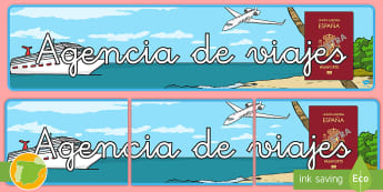 * NEW * Pancarta: Agencia de viajes - Vacación, vacaciones, viaje, viajes, mundo, el mundo, turismo, turista, turístico, turística, rol