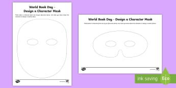 KS1 World Book Day Design a Character Mask Activity Sheet - face, create, craft, mask, worksheet