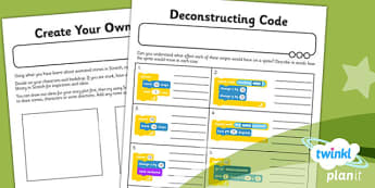 Computing: Scratch Animated Stories Year 6 Unit Home Learning Tasks