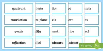 UKS2 Position and Direction Key Word Cards - coordinates, co-ordinate, four quadrants, key maths vocab, maths vocabulary, topic vocabulary, topic