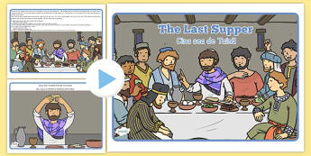 The Last Supper Story PowerPoint Romanian Translation - romanian, story, christianity, religion