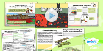 History: War and Remembrance: Remembrance Day KS1 Lesson Pack 6