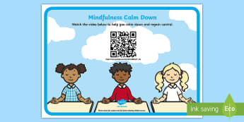 Mindfulness Calm Down Code Hunter - Mindfulness in the classroom mindfulness activities, mindfulness teaching resources, meditation, bre