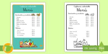 * NEW * Cartel: Menú de la cafetería saludable - sano, salud, nutrición, comida, productos, café, bocadillos, sandwiches, bebidas, agua, pirámide